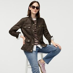 J. Crew Brown Uncoated Downtown Field Jacket